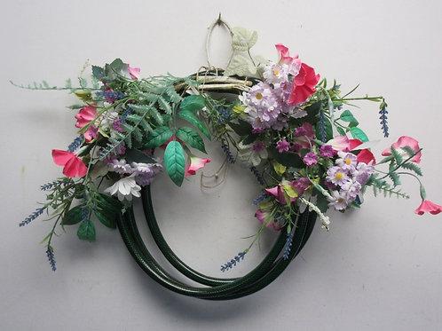 "Hose floral wreath, 14"" dia"
