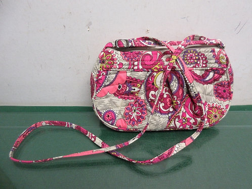 Small pink and purple Vera Bradley purse & shoulder strap
