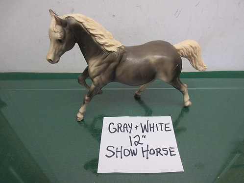 Breyer Horse USA-vintage gray and white show horse, 12""