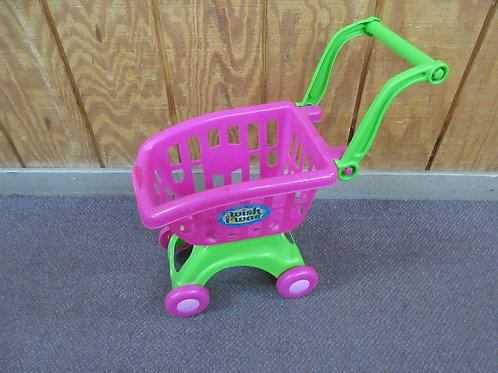 Children's pink shopping cart