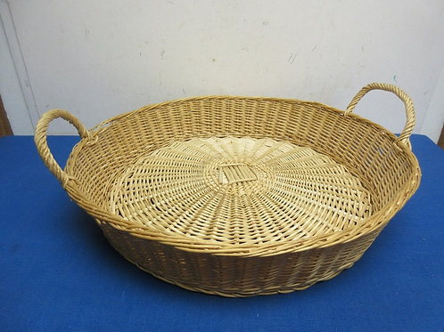 """Round low basket with handles 17""""dia x 3""""high"""