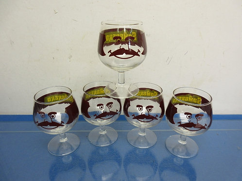 Set of 5 brandy snifters