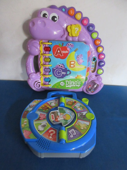 Leap Frog Dino's Delightful Day! Interactive book - purple & Fisher Price see &