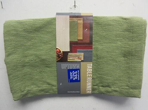 """Green table runner 14x72"""", New"""