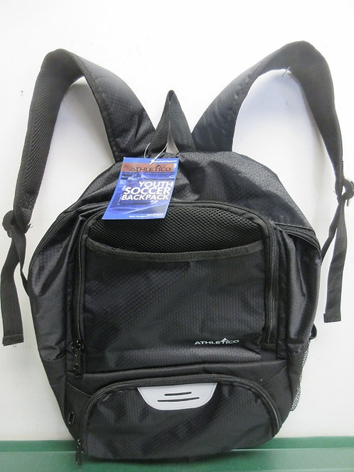 Athletico black youth soccer backpack, new, tags still on