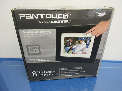 """Pan touch 8"""" LCD digital photo frame"""