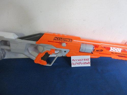 """Nerf orange accustrike alphahawk 30"""" gun - includes few darts"""
