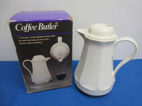 Coffee butler, white thermal carafe