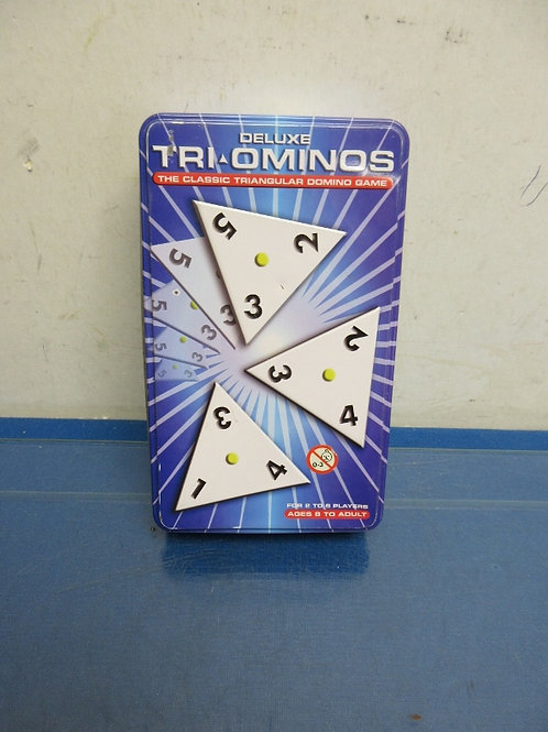 Deluxe Tri-ominos Game in metal box