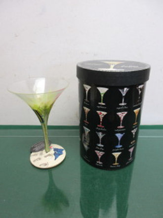 Lolita sex on a beach 10oz hand painted martini glass in box