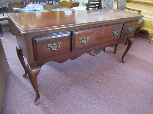 American Drew cherry queen anne server with 3 drawers - 60x19x30 - some wear