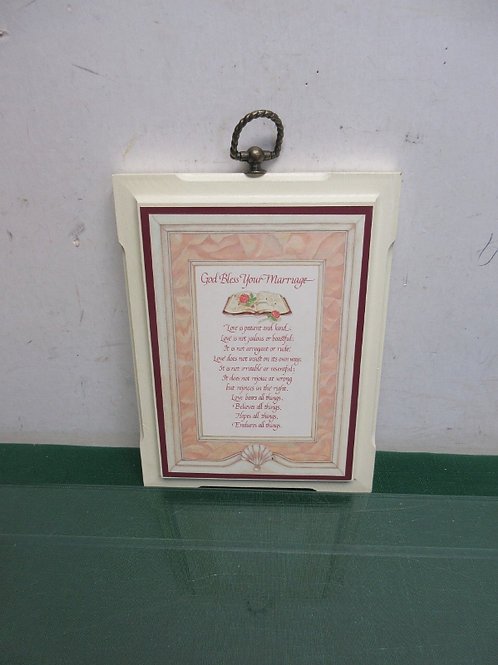 God Bless This Marriage plaque 6x8""