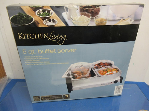 Kitchen Living 5 qt. buffet server with lids, 3 sections-in box