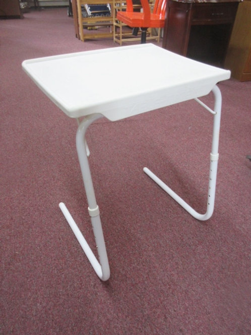 Tablemate II  white folding adjustable tv tray
