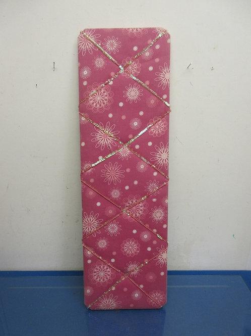 "Pink rectangular memo board 8x26"""