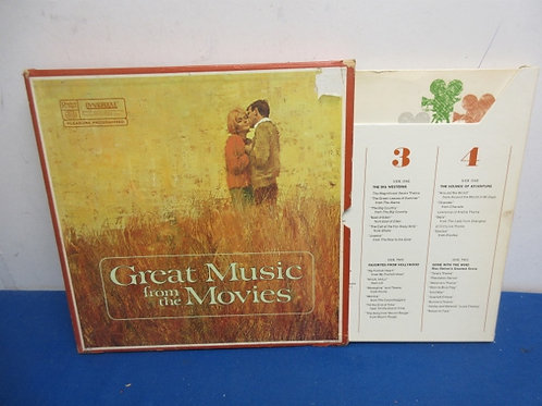 Vintage vinyl 4 record set great movie music, gone with wind, more