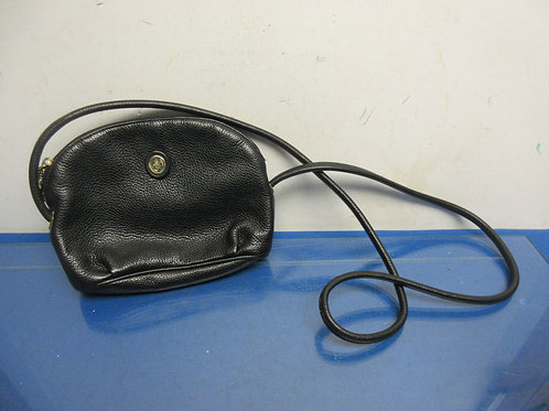 Liz Claiborne black leather small purse w/should strap