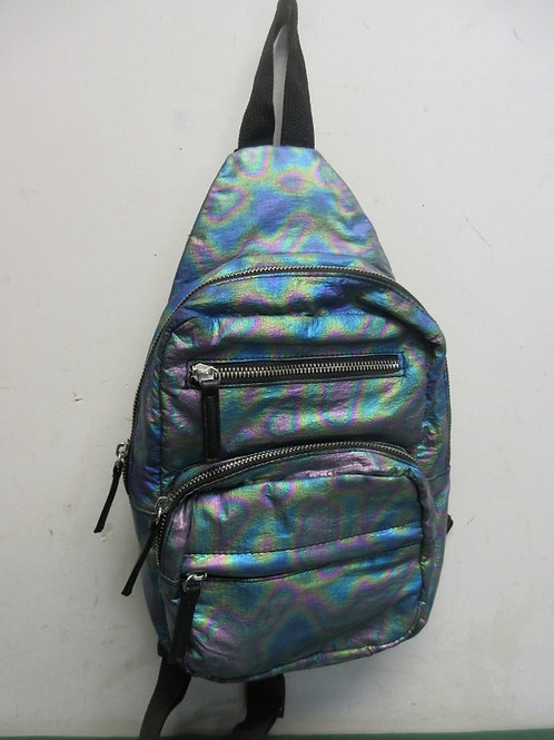 Small rainbow iridescent back pack