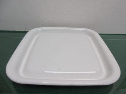 Corningware microwave browning plate - white square