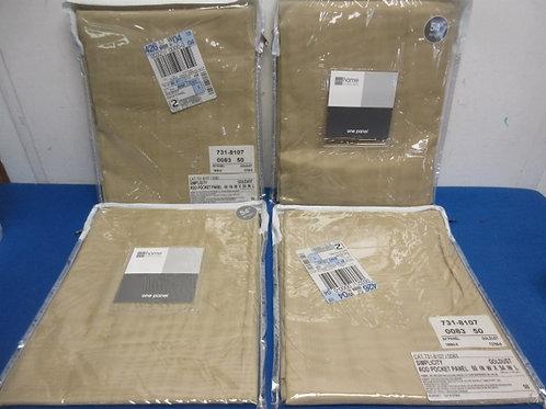 "JC Penney home set of 4 goldust rod pocket sheer panels, each 60x54"" All New, 2"