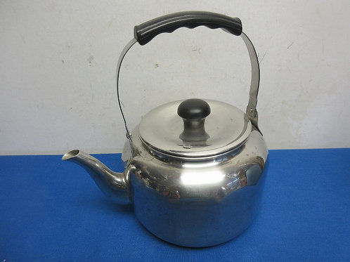 Farberware stainless tea kettle with black handle