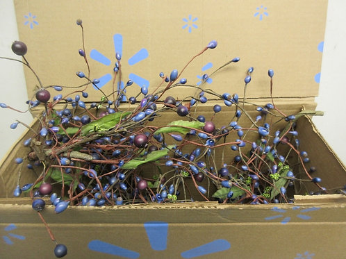 Box of blueberry garland, 5ft long
