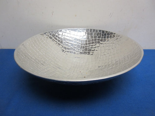 """Howland Boone polished pewter serving bowl, 14"""" dia"""