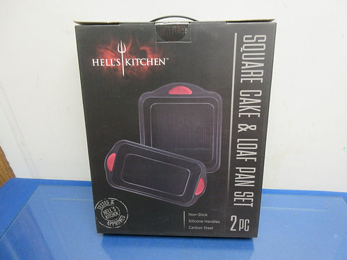 Hells kitchen square cake and loaf pan set,