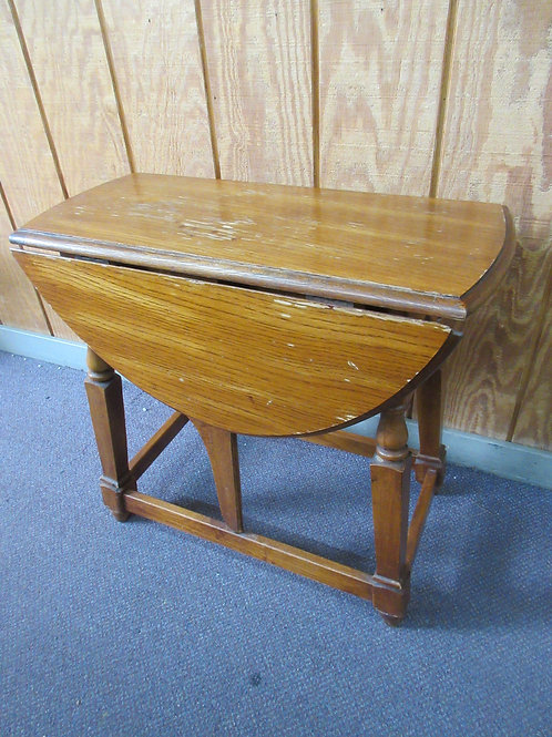 """Vintage drop leaf table - with leaves down 13x27x25"""" high,  Wear"""