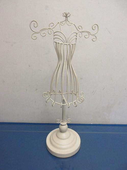 Ivory metal dress form tabletop necklace holder