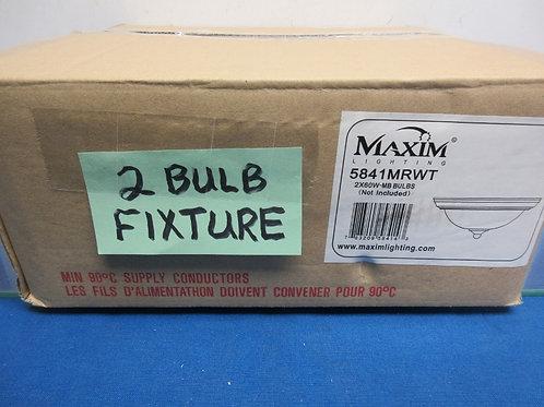 Maxim Lighting ceiling fixture #5841-2x60 watt bulbs