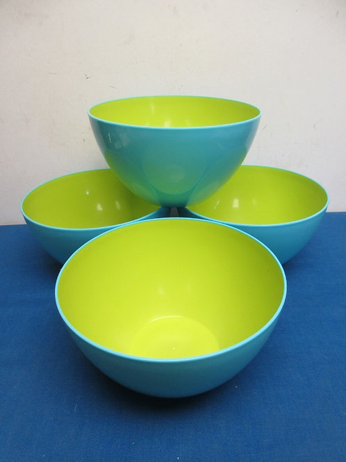Set of 4 blue melanac bowls