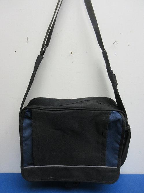 Black & blue canvas computer bag