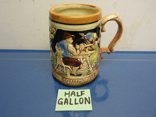 "German half gallon mug 7"" high"