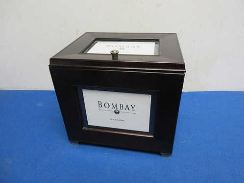 Bombay cherry wooden photo box with four lift out sections