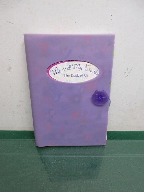 Me & My Friend purple keepsake book for little girls