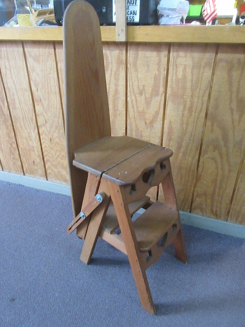 Handcrafted step stool / ironing board combination