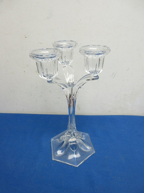 """Glass 3 candle votive holder, 11"""" tall"""