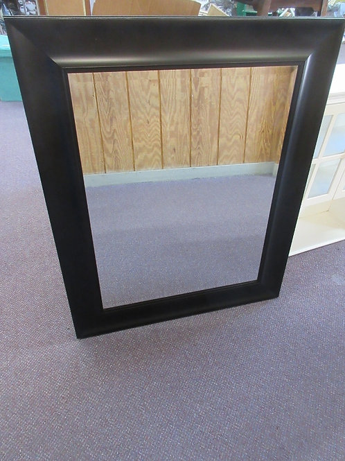 """Large beveled mirror with wide black frame 29x36"""""""