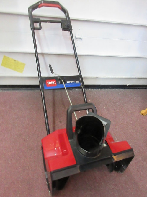 "Toro power curve 1800 single stage 18"" electric snow blower"