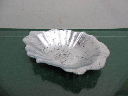 Arda silver glass bowl from Turkey 6x9P