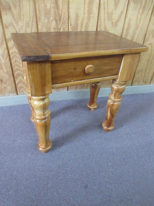 """Broyhill end table, with drawer, large legs, 15x23x23""""high"""