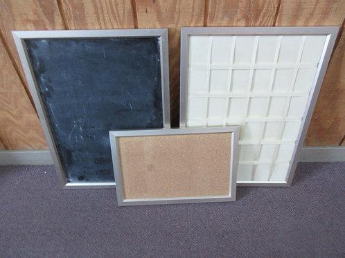 Pottery Barn 3pc office communication center/blackboard,chalkboard & memo board