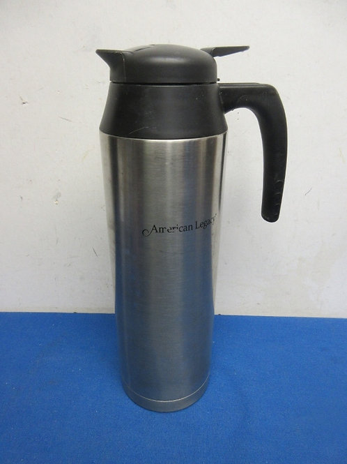 American legacy stanless carafe with black lid
