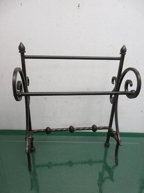Brown metal tabletop 2 tier towel rack
