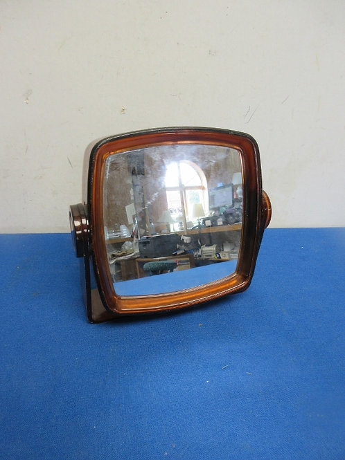 Double sided table top make up mirror