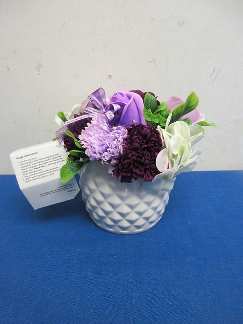 Hallmark floral arrangement with soap flowers