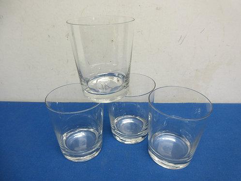 Set of 4 old fashion glasses