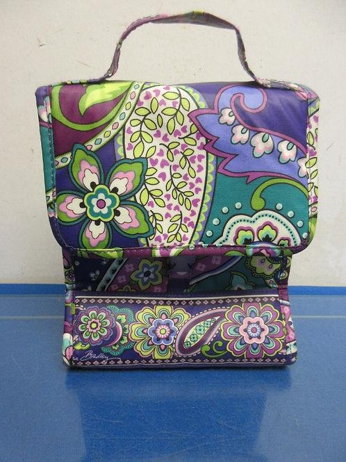 Vera Bradley vinyl lunch bag with purple paisley design
