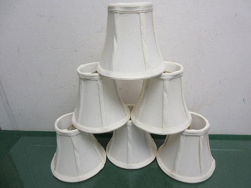 Set of 6 white small chandelier lampshades
